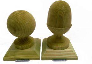 Decorative wooden finials