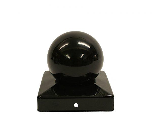 Fence Post Finials - Black Ball